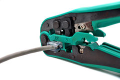 Network cable crimper Stock Image