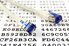 Network cable and encryption key Royalty Free Stock Photography