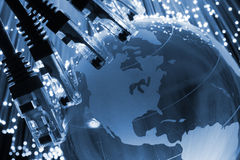 Network cable global Stock Images