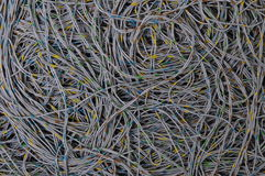 Network cable global connection Stock Photo