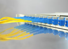 Network cable and hub Stock Photography