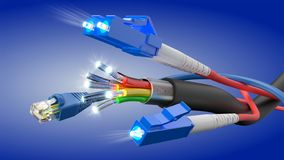 Information technology high speed connection stock photo
