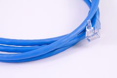 Network cable - patch-cord Royalty Free Stock Images