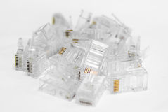 Network Cable RJ45 Head on white background Stock Photography
