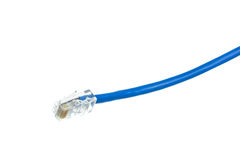 Network cable with RJ45 isolate Stock Images