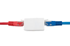 Network cable with RJ45 Royalty Free Stock Photography