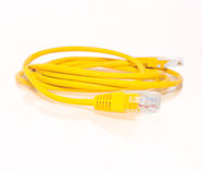 Network cable. A shot of UTP network cable. Data network Stock Photography