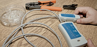 Network Cable Tester Stock Images