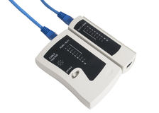 Network cable tester Royalty Free Stock Photos