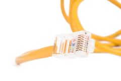 Network cable in yellow Royalty Free Stock Images