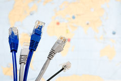 Network cables Stock Images