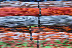 Network cables with cable ties Stock Photo