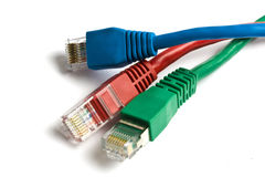 Network cables closeup Stock Image