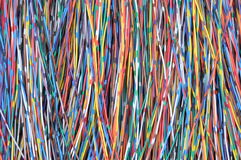 Network cables lines Stock Images