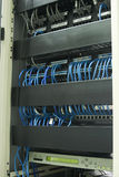 Network Cables In Rack Stock Photo
