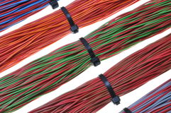 Network cables, wires in computer networks Royalty Free Stock Photos