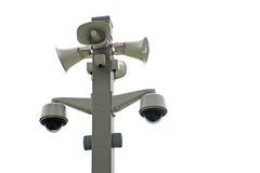 Network cameras and megaphones Stock Images