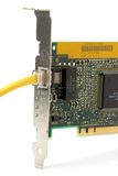 Network card with cable Stock Image