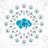 Network cloud Royalty Free Stock Photos