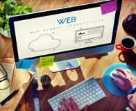 Network Cloud Backup Storage Download Concept Royalty Free Stock Photography