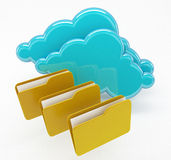 Network and cloud computing files in folders concept Royalty Free Stock Image