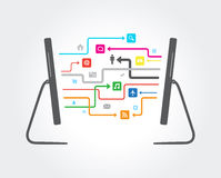 Network Cloud Connection Stock Images