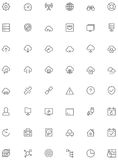Network and cloud services icon set Royalty Free Stock Photos