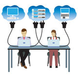 Network cloud technology. Illustration. Stock Photography