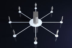 Network Collaboration. Connected Team. 3D rendered illustration Stock Photography