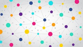 Network color communication background, abstract social network, flat design