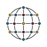 Network color royalty free illustration