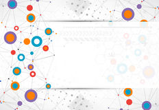 Network color technology communication background. Royalty Free Stock Image