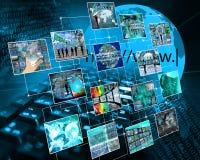 Network communication stock photo