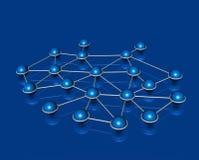 Network communication concept. Network connection communication web concept blue royalty free illustration