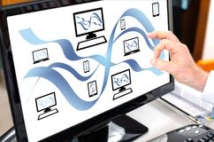 Free Network Communication Concept On A Computer Monitor Stock Images - 115144794