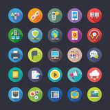 Network and Communication Flat Icons Set. Set of network and communication flat colored icons, ready to use Royalty Free Stock Image