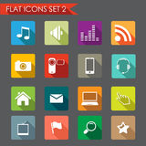 Network and communication flat icons Royalty Free Stock Images