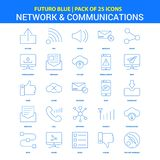Network and Communication Icons - Futuro Blue 25 Icon pack. This Vector EPS 10 illustration is best for print media, web design, application design user vector illustration
