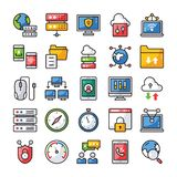 Network and Communication Icons vector illustration