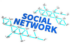 Network, communication, social media, Internet... Stock Photography