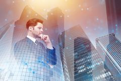 Network, communication and tomorrow concept Royalty Free Stock Image