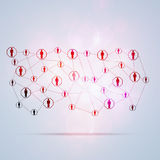Network Communications Multicolor Background Royalty Free Stock Photo