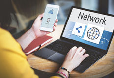 Network Communicztion Connection Share Concept Royalty Free Stock Image