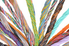 Network computer cables, abstract transmission in telecommunications systems Stock Image