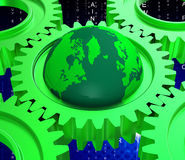 Network Computer Represents Global Communications And Computing Stock Image