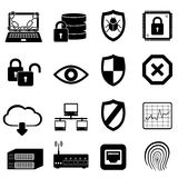 Network, computer and cyber security. Icon set stock illustration