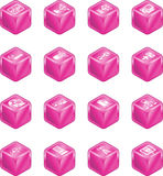 Network Computing Cube Icons S. A series of cube icons relating to computer networks Royalty Free Stock Photo