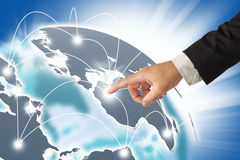 Network concept. Internet Concept of global business Royalty Free Stock Photography