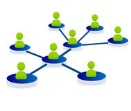 Network concept. Network, networking, web concept illustration Royalty Free Stock Images