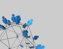 Network concept abstract 3d illustration Royalty Free Stock Image
